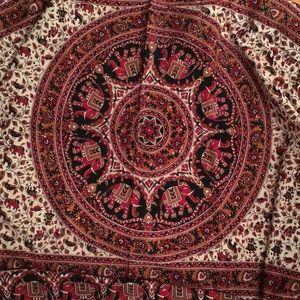 Unique Indian boho hand block dyed fabric